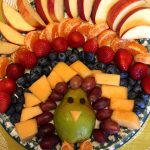 Thanksgiving Turkey-Shaped Fruit Platter Appetizer Recipe