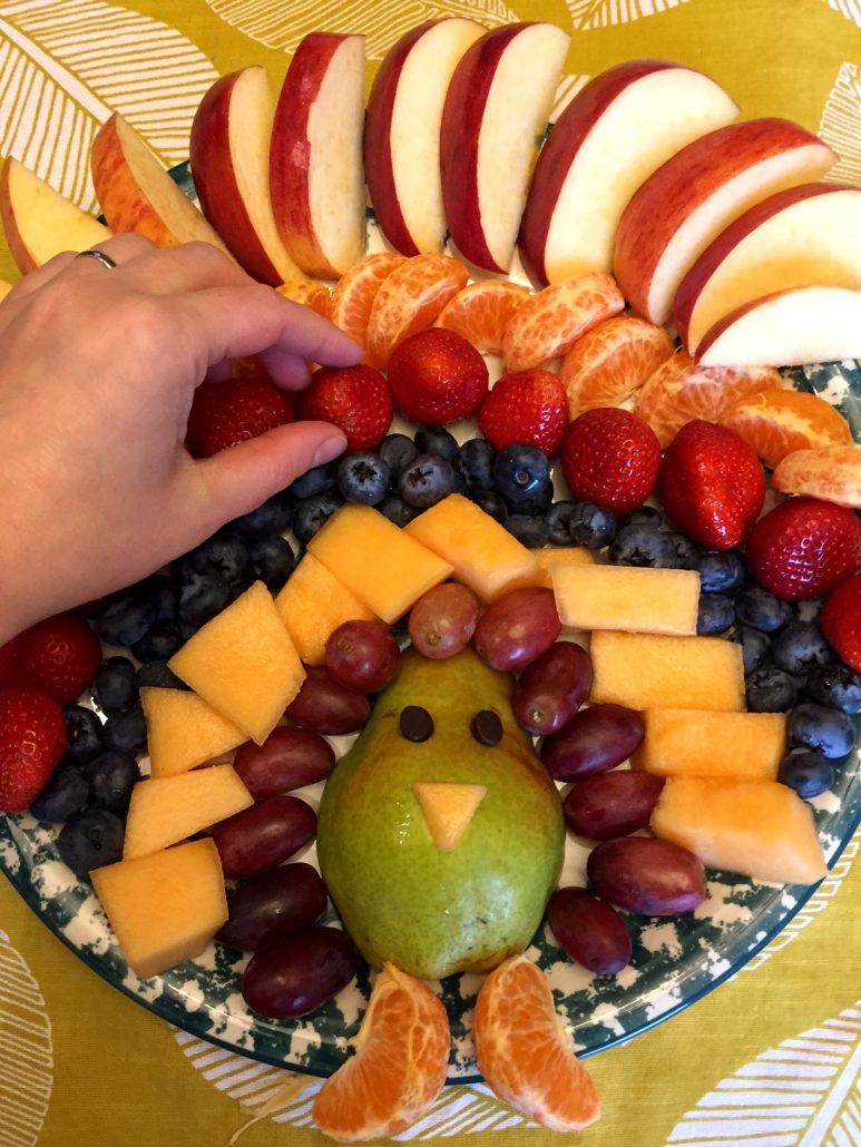 Thanksgiving Turkey Fruit Tray Appetizer