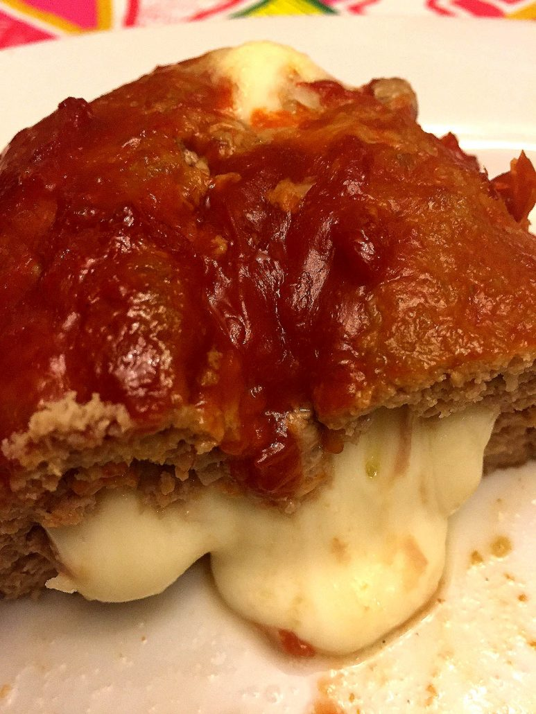 Cheese Stuffed Meatloaf Recipe With Gooey Melted Cheese Inside
