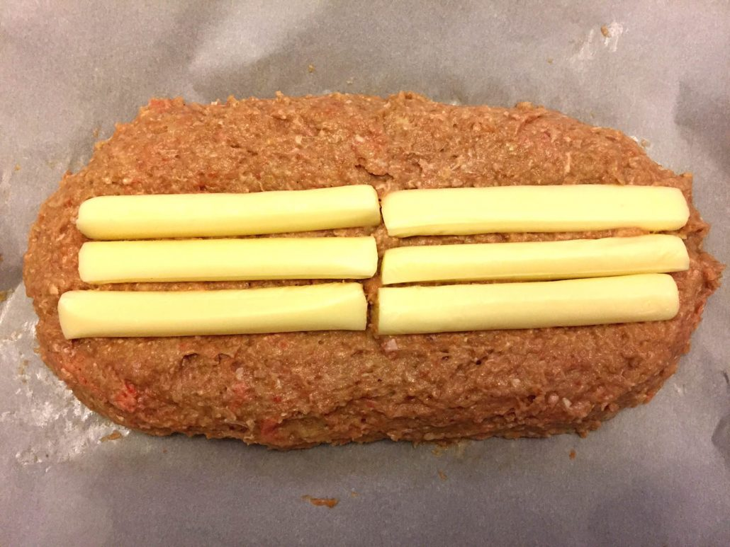How To Make Cheese Stuffed Meatloaf With Cheese Sticks
