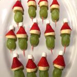 Christmas Grinch Fruit Kabobs Appetizer