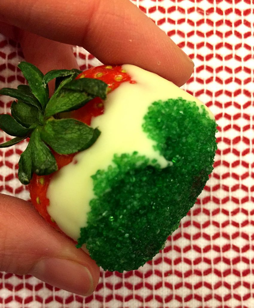 Red White And Green Strawberries