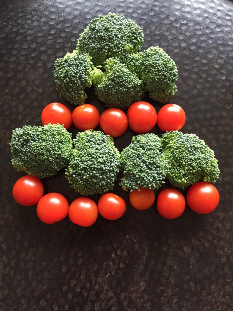 Vegetable Plate Christmas Tree