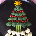 Christmas Tree Shaped Vegetable Platter Appetizer Tray