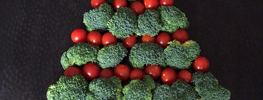 Christmas Tree Shaped Veggie Tray Platter