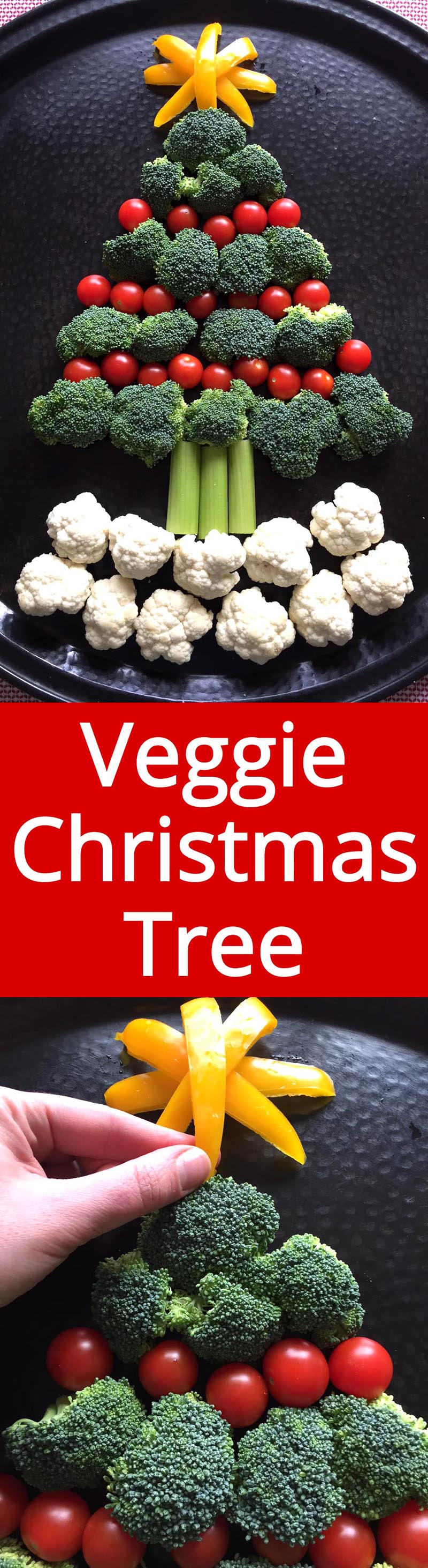 Christmas Tree Shaped Vegetable Platter - MUST make this for Christmas party! Genius! | MelanieCooks.com