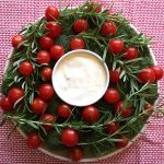 Christmas Wreath Shaped Veggie Platter Appetizer Recipe