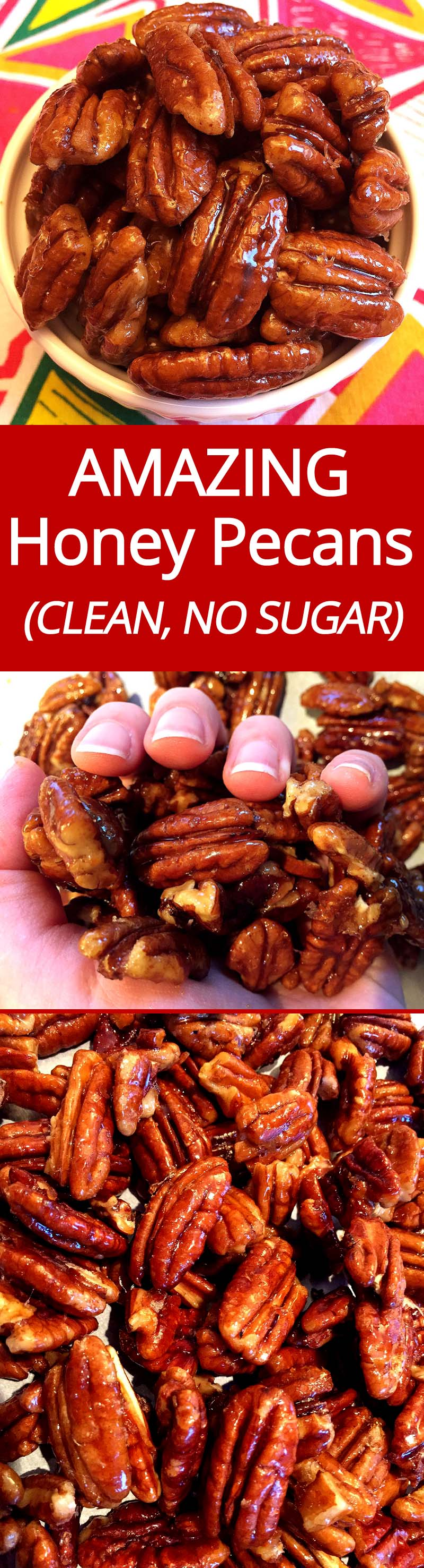 These honey candied pecans are amazing! | MelanieCooks.com