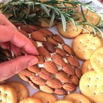 Pinecone Shaped Cheese Ball Holiday Appetizer With Cream Cheese & Almonds
