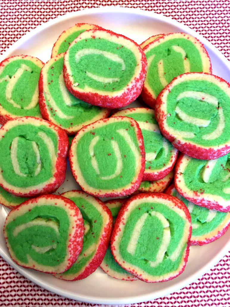 Christmas No-Chill Pinwheel Swirl Sugar Cookies Recipe