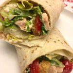Easy Healthy Chicken Ceasar Salad Wraps Recipe