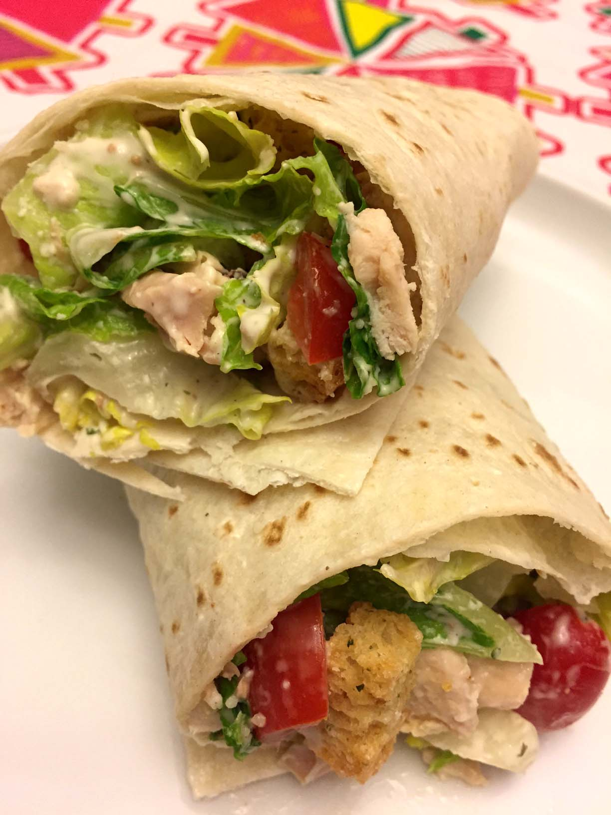 Easy Healthy Chicken Ceasar Salad Wraps Recipe Melanie Cooks