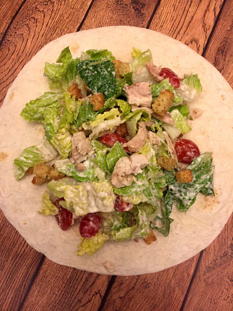 How to make healthy chicken caesar salad