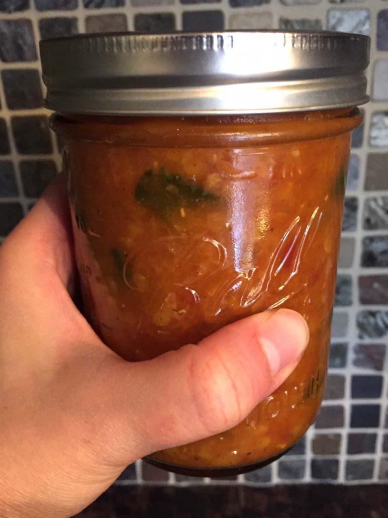 Lentil Soup In A Mason Jar