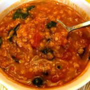 Easy Vegan Lentil Spinach Soup Recipe