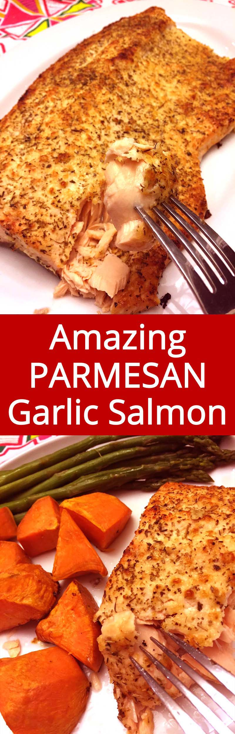 Crispy Parmesan crust on the outside, succulent salmon on the inside - this is my favorite salmon recipe ever!