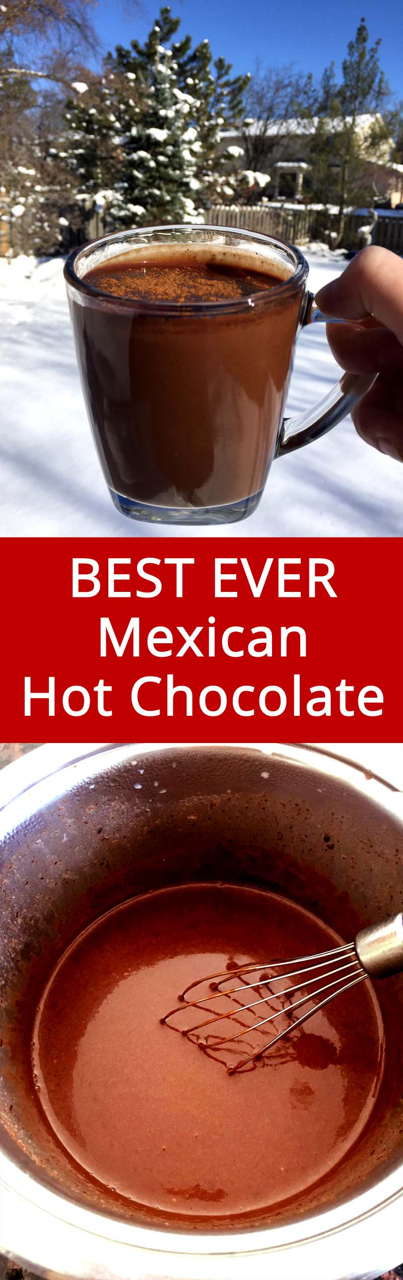 This Mexican hot chocolate is simply EPIC! This is the only Mexican hot chocolate recipe I'll ever need! #mexican #chocolate #hotchocolate #christmas
