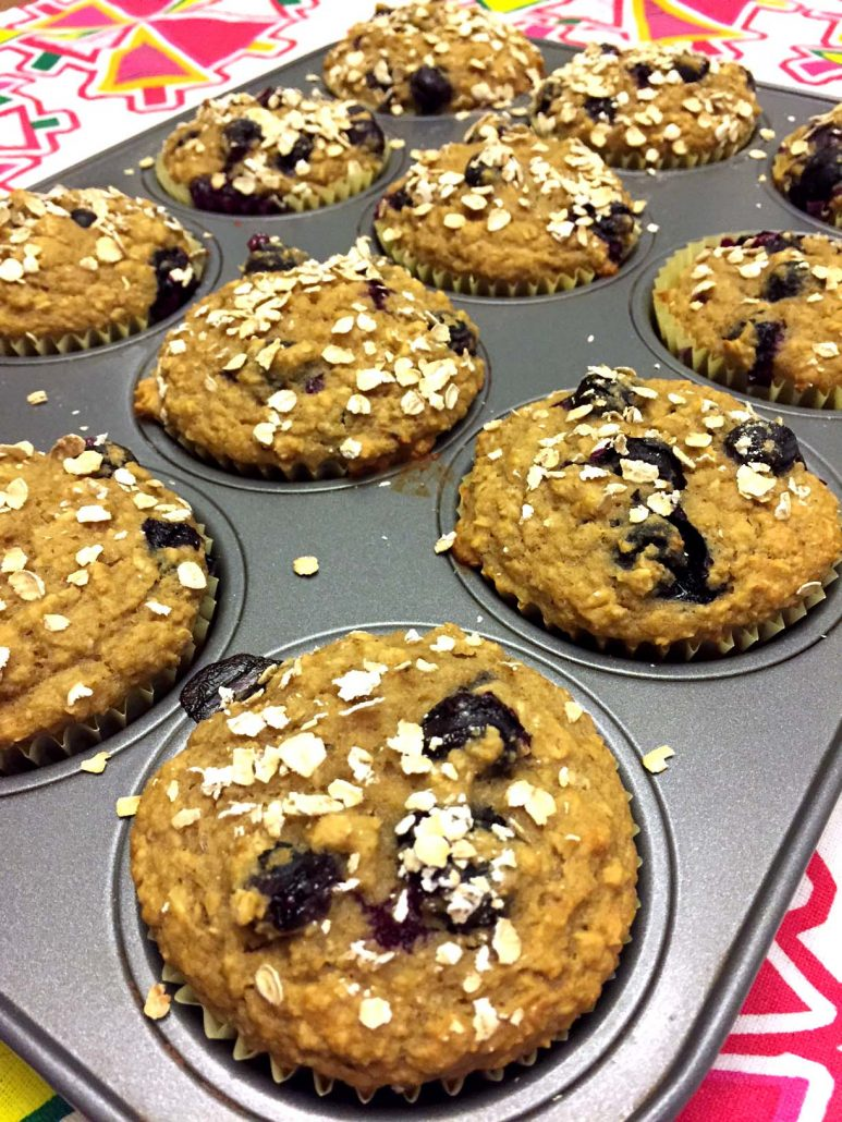 Healthy Gluten-Free Blueberry Oatmeal Muffins