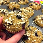 Healthy Blueberry Oatmeal Muffins - Gluten-Free, Sugar-Free and Low-Fat!