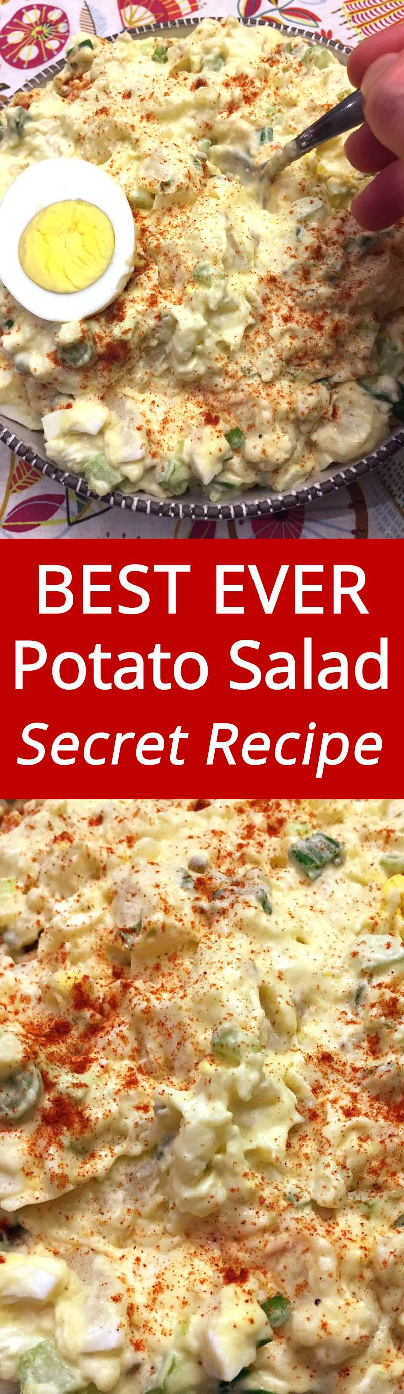 True winner! Everyone raves about it! This easy potato salad recipe is amazing!