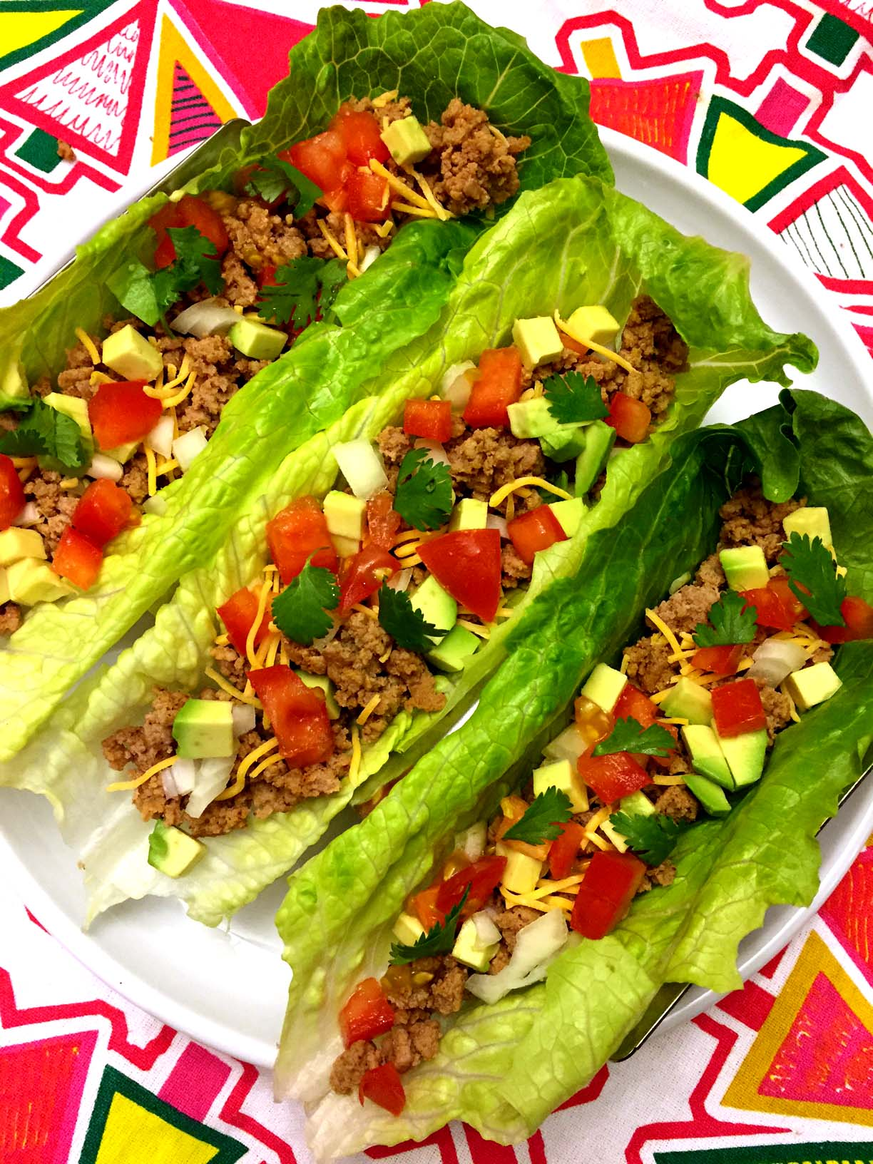 Healthy Turkey Taco Lettuce Wraps Recipe – Low Carb And ...