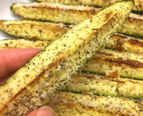 Baked Parmesan Garlic Zucchini Recipe
