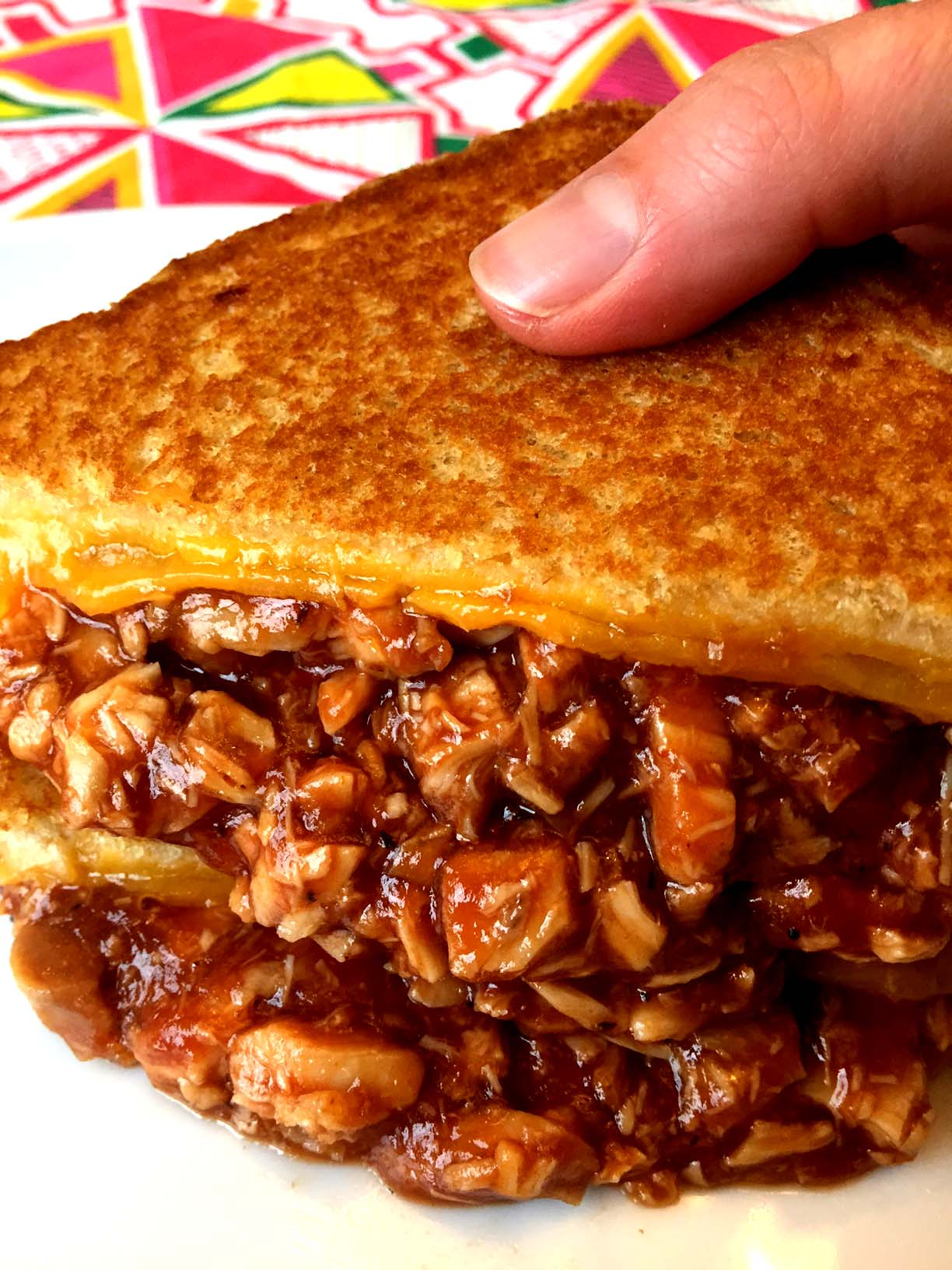 Easy Bbq Chicken Grilled Cheese Sandwich Recipe Melanie Cooks