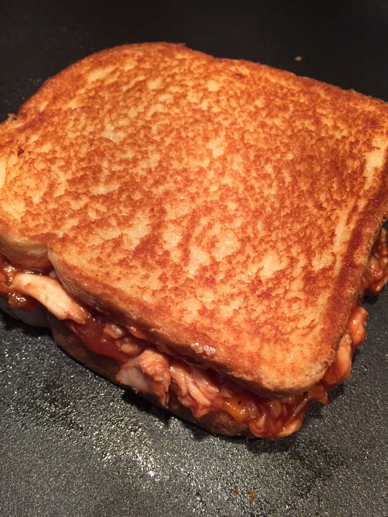 Easy Bbq Chicken Grilled Cheese Sandwich Recipe Melanie