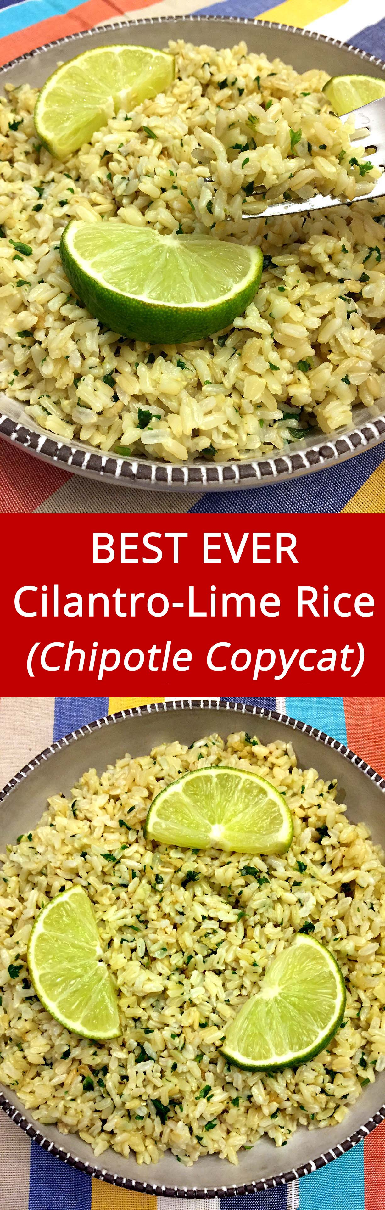 I love Chipotle cilantro-lime rice! This recipe is amazing!