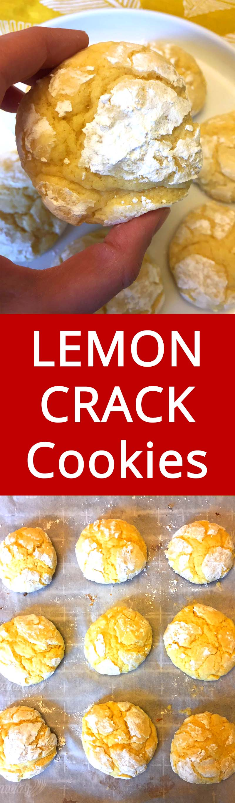 Hahaha CRACK is right! These cookies are sooo addictive! This is my favorite lemon crinkles cookies recipe - BEST EVER!