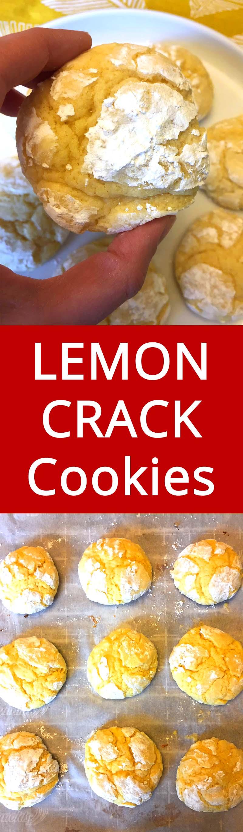 Easy Lemon Crack Crinkles Cookies Recipe Best Ever