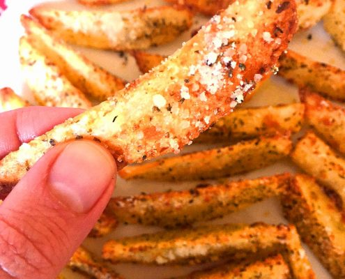 Parmesan Garlic Baked Home Fries Recipe