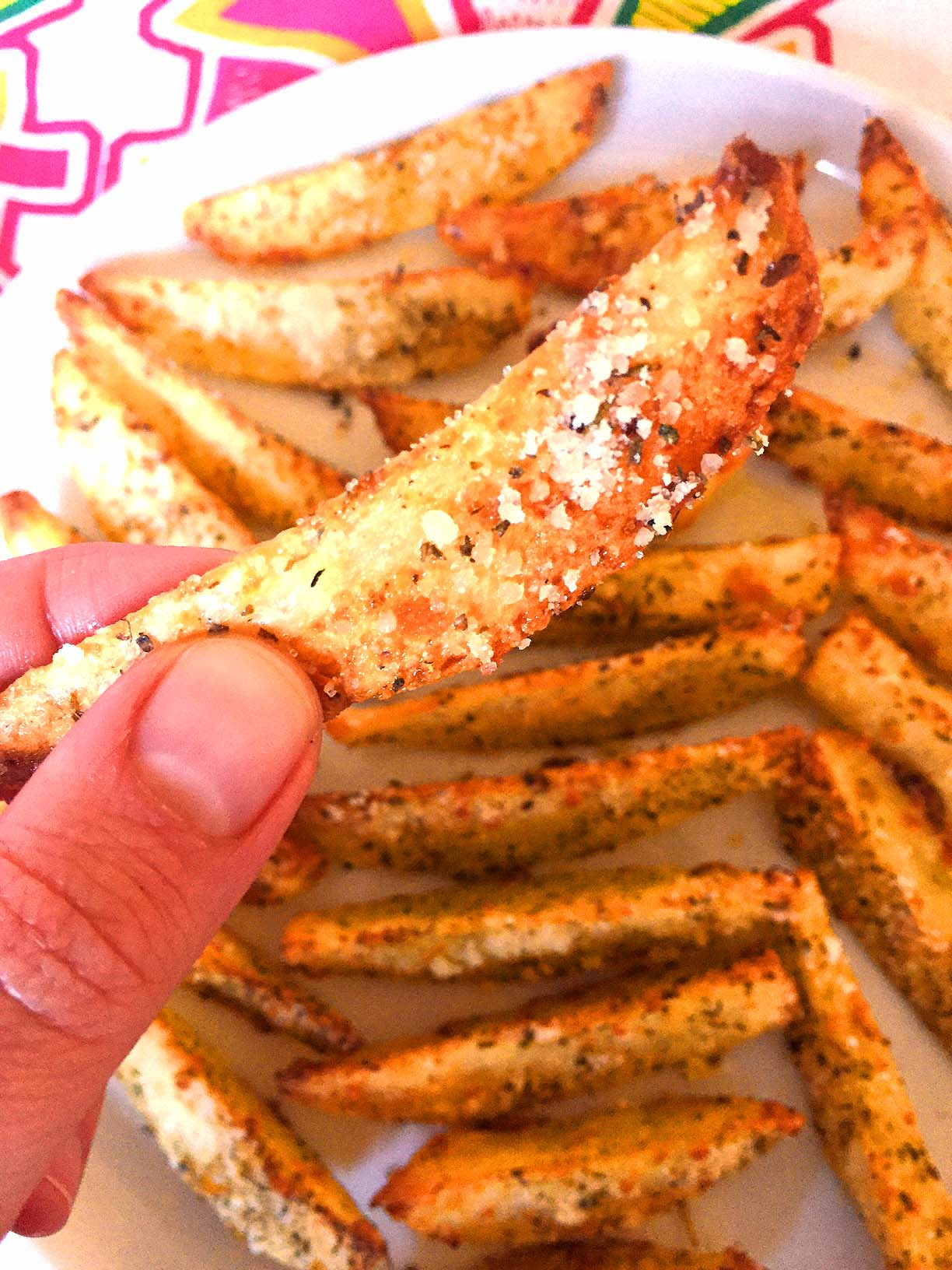 Oven Baked Garlic Parmesan Potato French Fries Recipe – Melanie ...