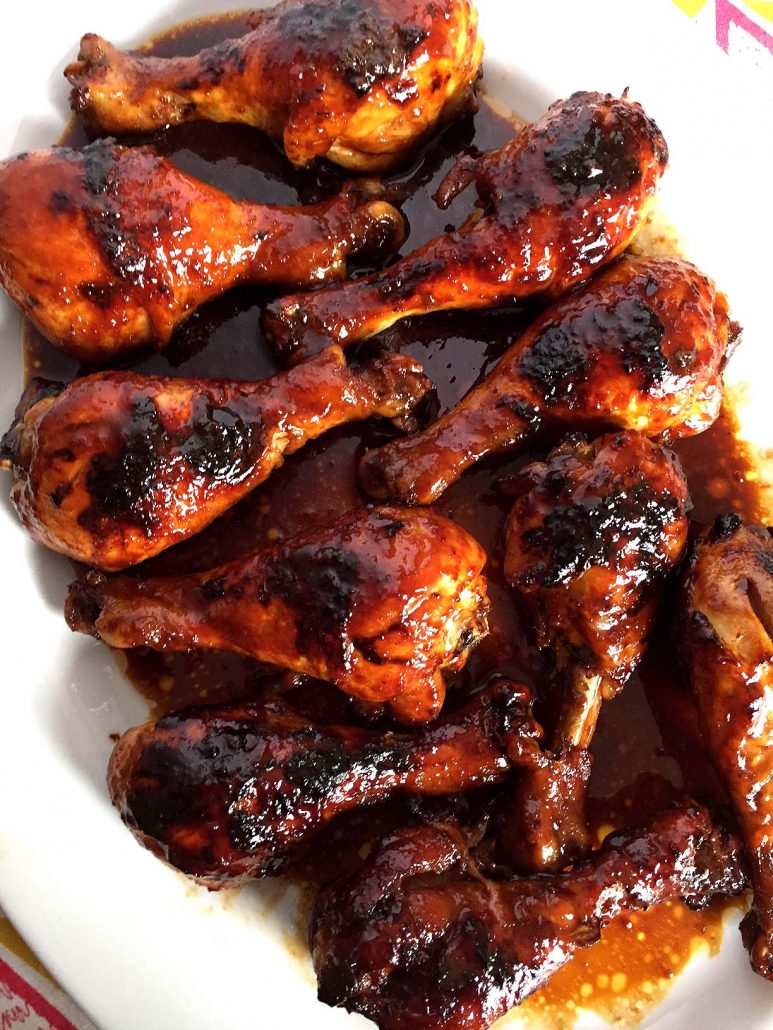 How long to cook chicken with bbq sauce in oven