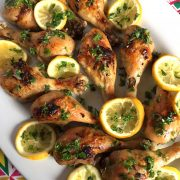 Easy Baked Lemon Garlic Chicken Legs Recipe