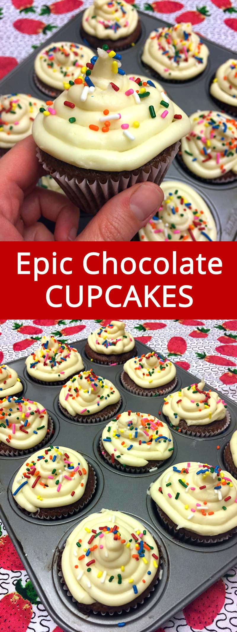 These are the best cupcakes ever! Truly amazing! This is the only chocolate cupcake recipe I'll ever need!
