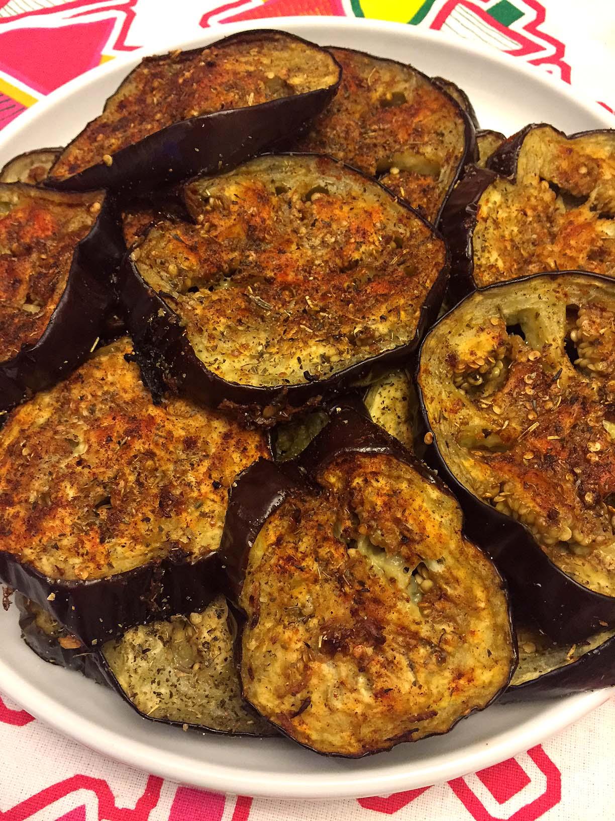 Spicy Garlic Oven Roasted Eggplant Slices Recipe Melanie