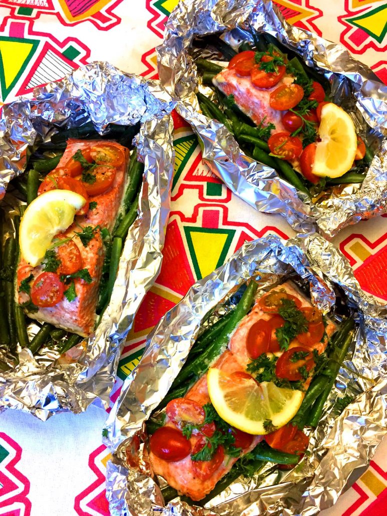 Salmon Foil Packet Dinner