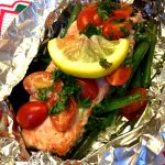 Salmon With Vegetables In Foil Packets
