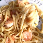 Easy Creamy Garlic Shrimp Linguine Seafood Pasta Recipe