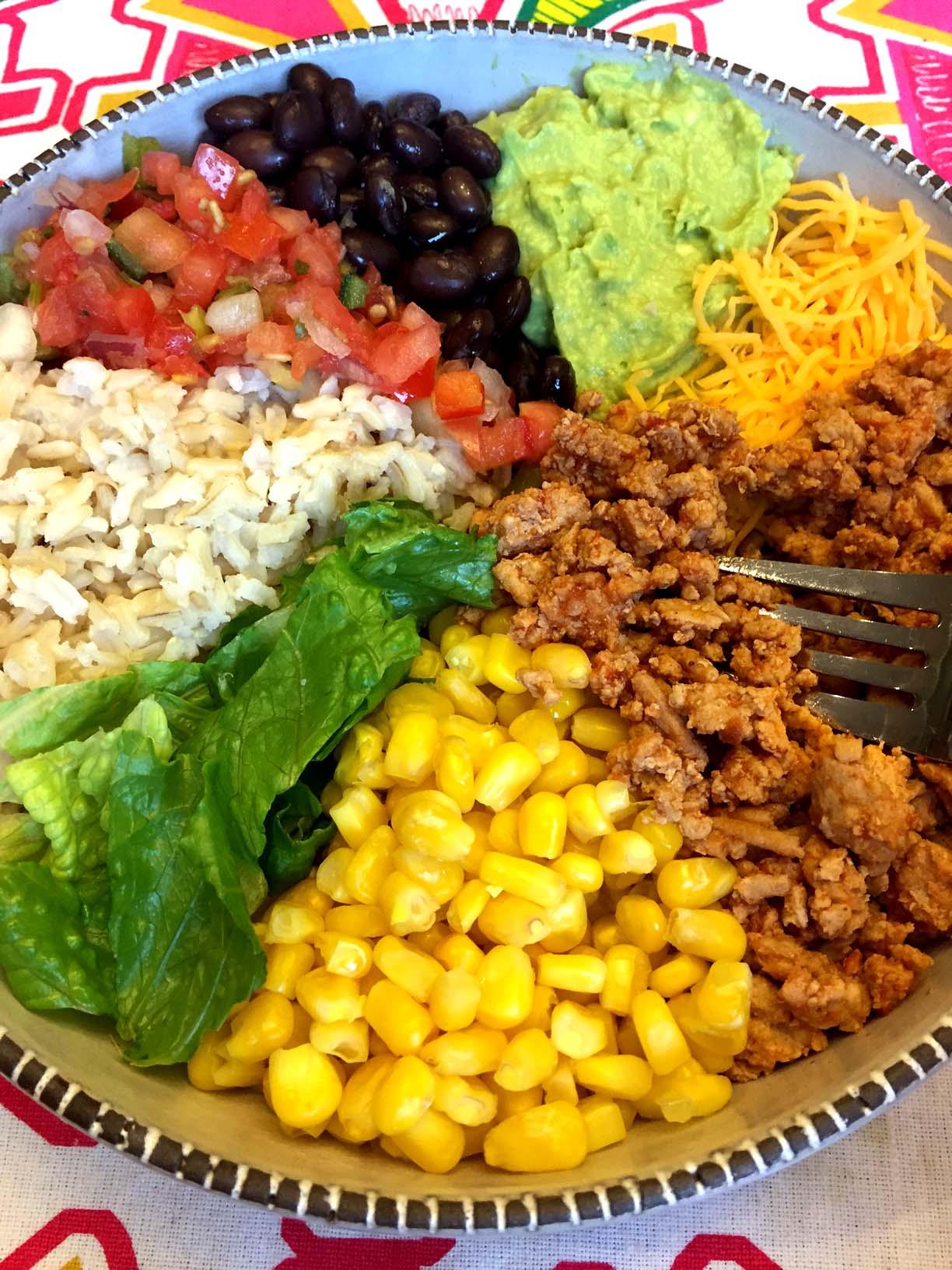 Ground Chicken Taco Bowl