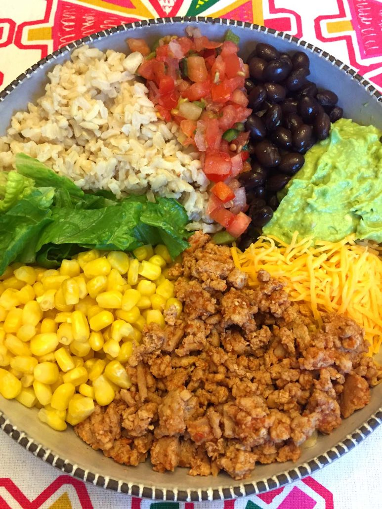 Taco Burrito Rice Bowl
