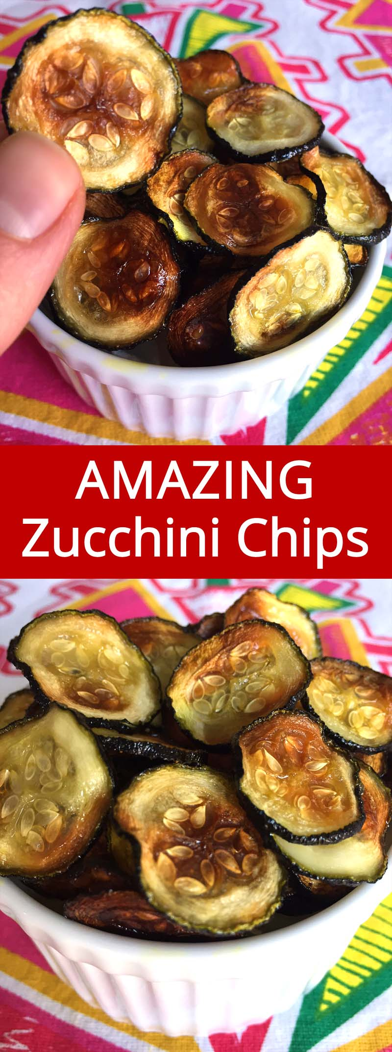This is the only recipe that WORKS using the oven! I love baked zucchini chips!