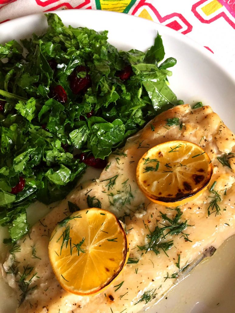 Baked lemon garlic butter tilapia white fish melanie cooks for Lemon fish sauce recipe