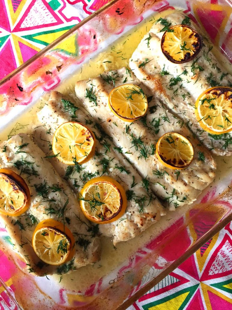 Grilled pollock. Cooking recipes 99