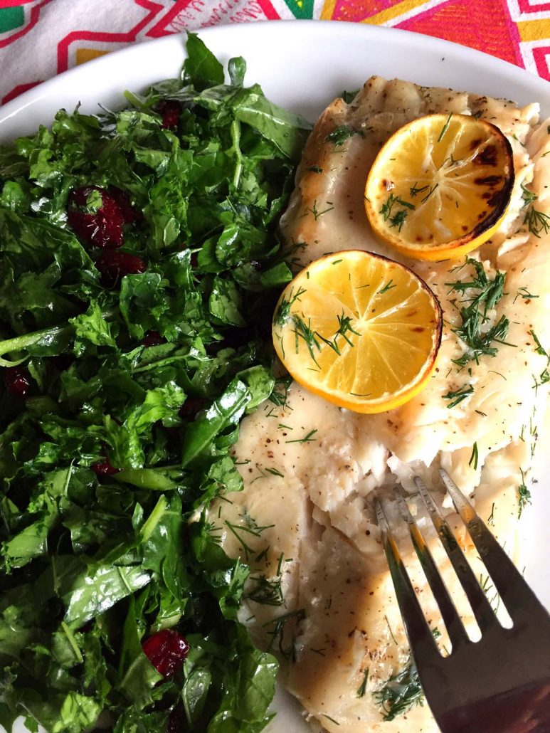Lemon Garlic Butter Baked Fish