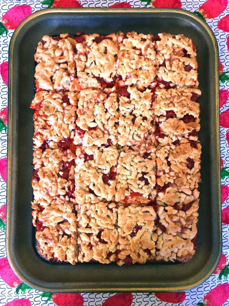 Russian Cherry Crumb Cake