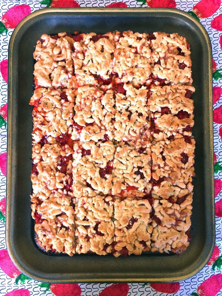 Russian Cherry Crumb Cake