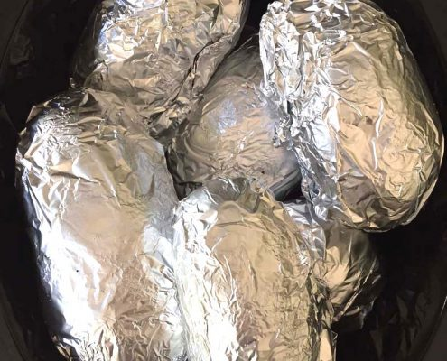 Crockpot Baked Potatoes Recipe