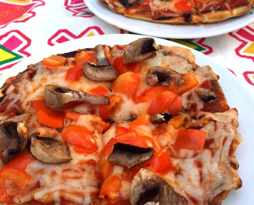 Easy Grilled Veggie Pita Pizza
